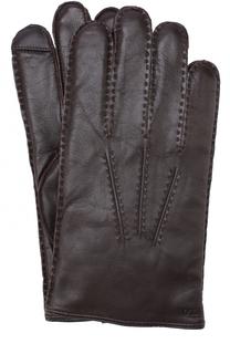 Кожаные перчатки с кашемировой подкладкой Polo Ralph Lauren
