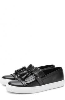 Кожаные слипоны London с бахромой и кисточками Dolce & Gabbana
