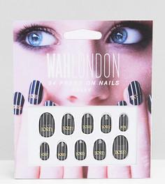 Накладные ногти WAH London & ASOS - Bossy Pinstripe - Черный