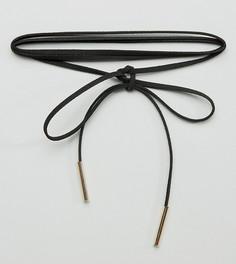 Ожерелье-чокер в несколько оборотов Reclaimed Vintage Inspired - Черный