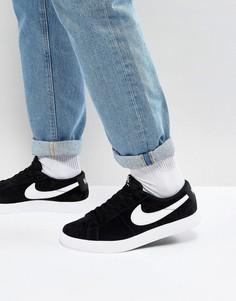 Низкие черные кроссовки Nike SB Blazer 878365-011 - Черный