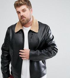 Черная куртка из искусственной цигейки ASOS PLUS - Черный