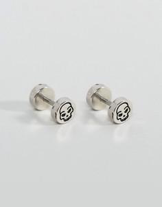 Серебристые серьги-плаги с черепами ASOS - Серебряный