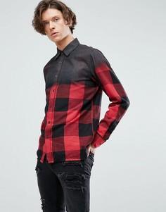 Рубашка в клетку Dr Martens - Красный