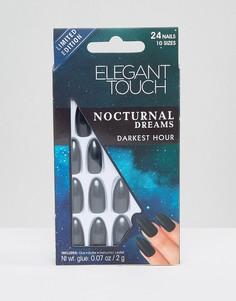 Накладные ногти-стилеты Elegant Touch Nocturnal Dreams - Darkest Hour - Серый