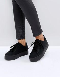 Кроссовки на шнуровке ASOS DAY LIGHT - Черный
