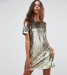 Платье А-силуэта с пайетками Fashion Union Petite - Золотой