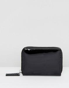 Лакированный мини-кошелек New Look - Черный