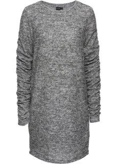 Платье со сборками (серый меланж) Bonprix