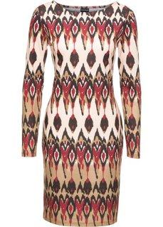 Платье (цвет хаки/бежевый/бордовый с рисунком) Bonprix