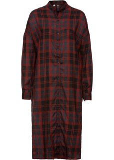 Платье-макси рубашечного покроя (красный каштан в клетку) Bonprix