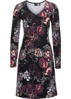 Платье (черный/яркий рисунок) Bonprix