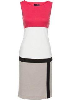 Платье (красный/кремовый/бежевый/черный с узором) Bonprix