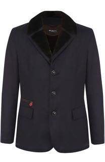 Кашемировая куртка с меховой подкладкой Kiton
