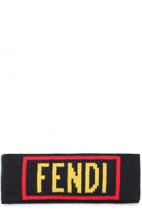 Шерстяная повязка на голову Fendi