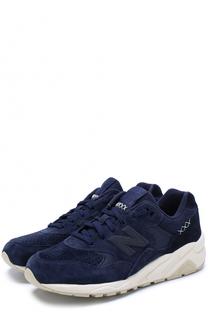 Замшевые кроссовки 580 на шнуровке New Balance