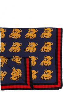Шерстяное одеяло с принтом Gucci