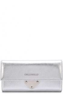 Кожаный кошелек с клапаном и логотипом бренда Coccinelle