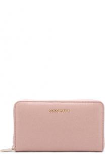 Кожаное портмоне на молнии с логотипом бренда Coccinelle