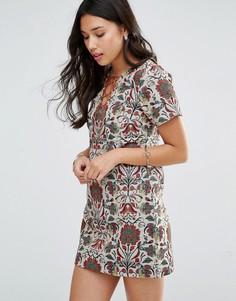 Платье мини с гобеленовым принтом Millie Mackintosh - Мульти