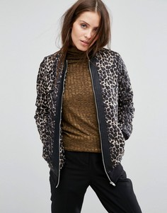 Бомбер с леопардовым принтом Vero Moda - Черный