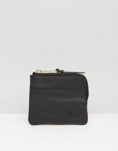 Кожаный бумажник на молнии Herschel Supply Co Johnny - Черный