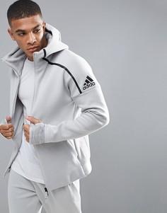Худи серого цвета adidas Athletics ZNE 2 - Серый