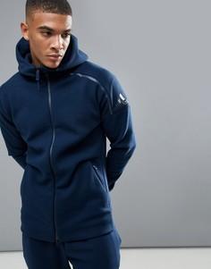 Худи темно-синего цвета adidas Athletics ZNE 2 BQ6928 - Темно-синий