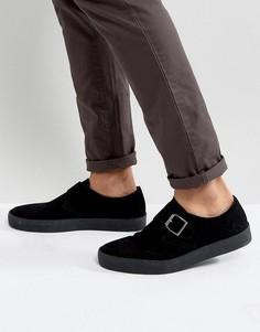 Туфли на подошве с эффектом крепа Vagabond Luis Monk - Черный