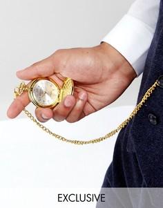 Золотистые карманные часы Reclaimed Vintage эксклюзивно для ASOS - Золотой