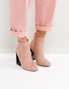 Розовые ботильоны на каблуке Lost Ink Debbie - Розовый