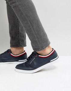 Темно-синие кожаные кроссовки Tommy Hilfiger Harrington - Темно-синий