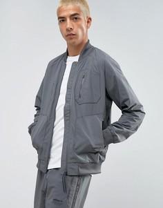 Серый спортивный бомбер adidas Originals NMD Urban BS2515 - Серый
