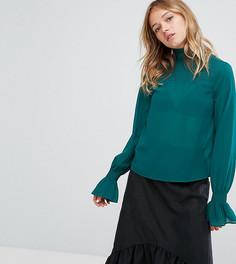 Блузка с оборками Monki - Зеленый