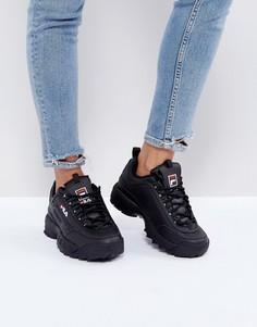 Черные низкие кроссовки Fila Disruptor - Черный