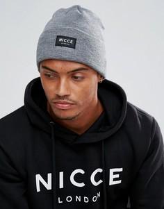 Серая шапка-бини Nicce London - Серый