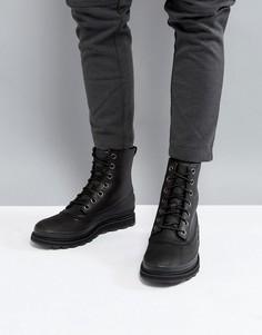 Черные ботинки из водонепроницаемой кожи Sorel Madson - Черный