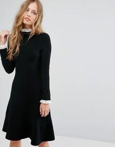 Черное платье с кружевной отделкой Suncoo - Черный