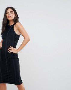 Темно-синее облегающее платье с отделкой AX Paris - Темно-синий