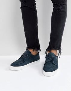 Замшевые кроссовки-криперы T.U.K - Серый