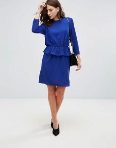 Платье-футляр с баской Y.A.S - Синий