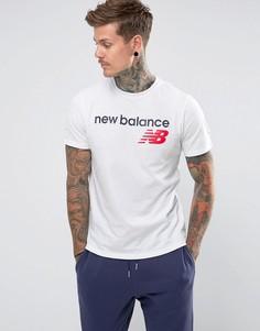 Белая футболка с логотипом New Balance Athletics MT73581_WT - Белый
