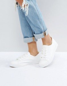Кроссовки на шнуровке New Look - Белый