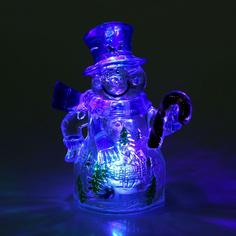 Новогодний сувенир Luazon Снеговик и леденец RGB 1077334