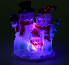Новогодний сувенир Luazon Семья снеговиков RGB 1077360