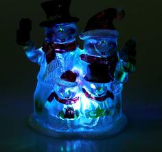 Новогодний сувенир Luazon Семейка снеговиков RGB 1077361