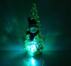 Новогодний сувенир Luazon Ёлочка снеговик Green 1353370
