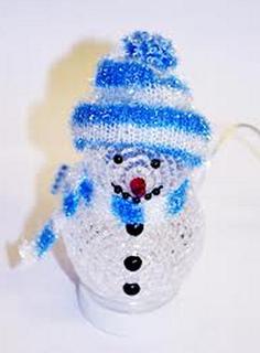 Новогодний сувенир Новогодний Снеговик Coolcox СС-319D USB Blue
