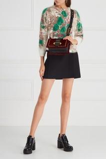 Меховая сумка Cahier Prada