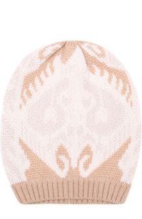 Шерстяная вязаная шапка с принтом Tak.Ori